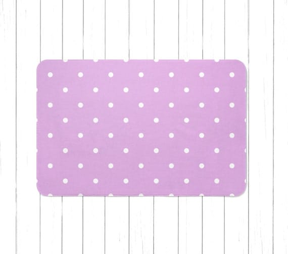 New Two Shaggy Lg Light Purple Lavender Bathroom Rugs  Bath Mat Machine