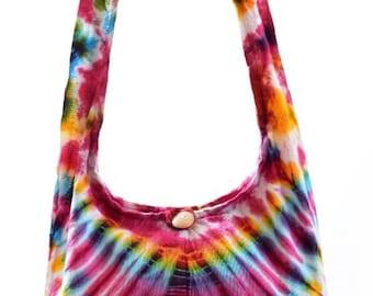 Tie Dye shoulder bag, Boho bag ,  Messenger, Hippie,  Gypsy Sling, Hippy,  Hobo, Boho sling bag,