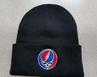 Grateful Dead SYF steel your face Knit cap beanie many colors 10% to the Seva Foundation