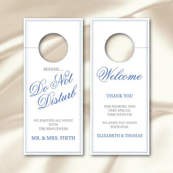 Wedding do not disturb door hanger sign template diy royal - Diy do not disturb door hanger ...