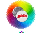 GIRLS - 1 1/4 in. Pin-back Button