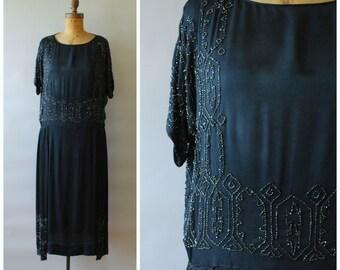 Ibis dress • 1920s beaded dress