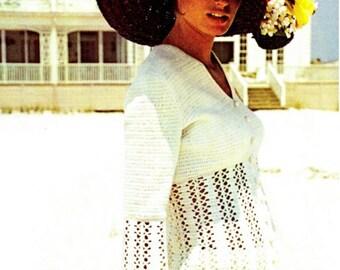 Crochet Top Pattern Crochet Tunic Pattern Crochet Dress Pattern Crochet Pants Pattern Vintage Pattern Crochet blouse pattern Bell Pants