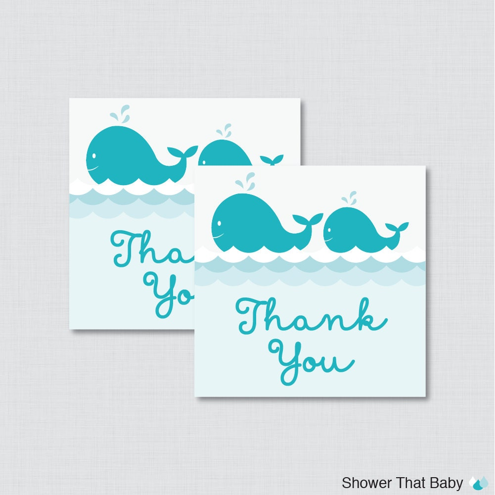 printable whale baby shower favor tags nautical by showerthatbaby