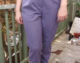 Purple, High Waisted Wool Slacks