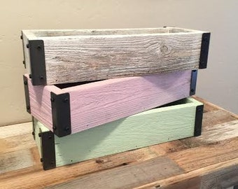 Reclaimed Wood Decorative Boxes