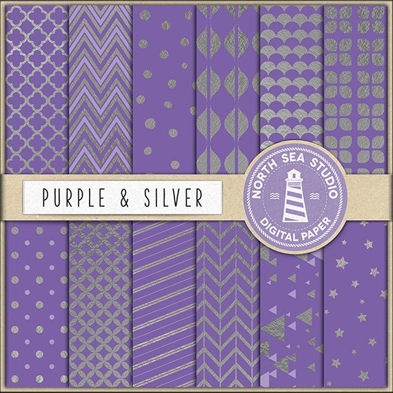 Buy 5 Get 3 Free Silver Digital Paper Silver Foil Papers Silver