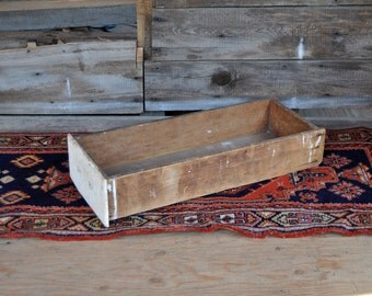 Wood Crate Rustic Home Decor Large Wooden Box Upcycled Furniture Wooden Bins Large Wooden Crate Wood Box Rustic Box Drawer Salvage Antique