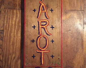 Wood Tarot Sign