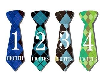 Baby Month Stickers- Milestone Sticker- Baby Boy Month Stickers- Monthly Stickers- 12 month stickers- Milestone Baby Month Stickers- B30