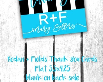 Rodan + Fields Thank You Cards!!! Flat 5.5x4.25 Customized with your name!!!