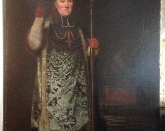 Unbelievably large oil painting late 18th century Religious portrait