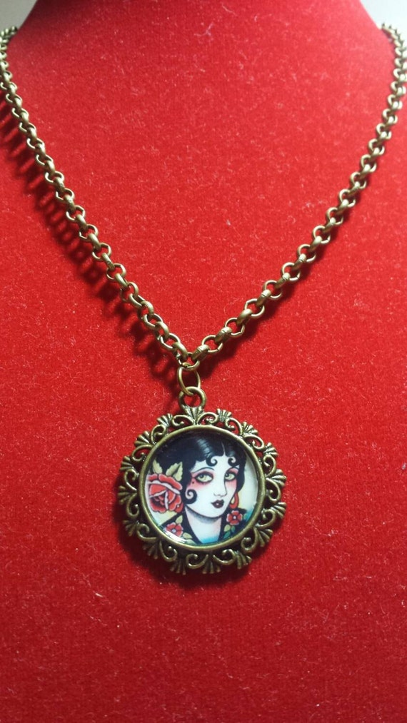 cameo bronze necklace vintage and style various designs