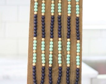 Navy and Teal Tassel Necklace
