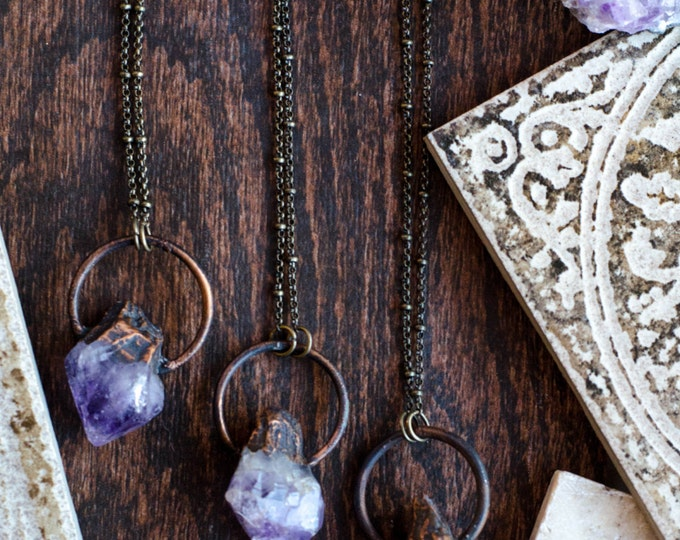 Raw Amethyst Point Necklace