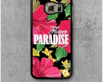Samsung Galaxy S6 Case Flower Paradise Hibiscus