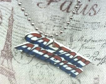 Captain America Comic Book  Necklace Title Logo