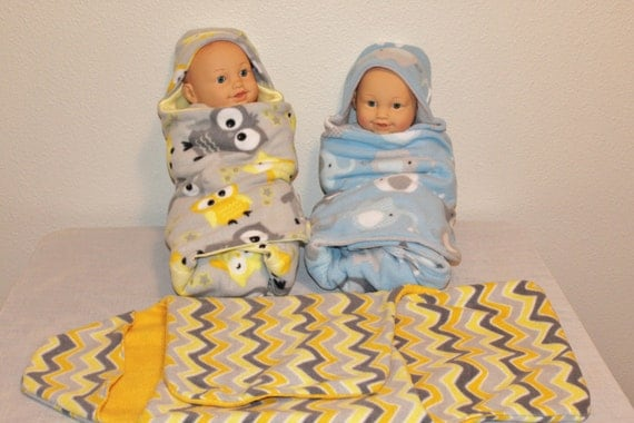 Hooded Baby Blanket Baby Swaddle Wrap Baby Hooded By