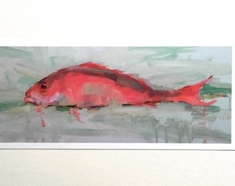 4x9 Blank Card- 'Red Snapper'