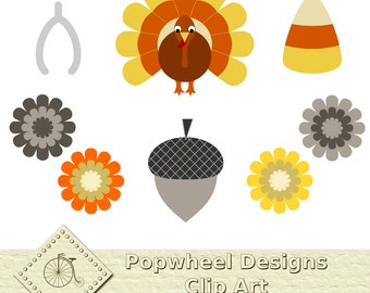 Gobble-Gobble -- Thanksgiving  -- Digital Clip Art Pack -- Printable -- Personal and Commercial Use