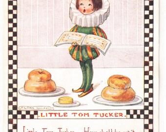 Flora White A/S Circa 1920 Nursery Rhyme Postcard Little Tom Tucker Unused