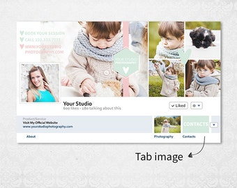 Photography Facebook Timeline Cover Template - Facebook Tab Images - Photoshop Template - T002 - instant download