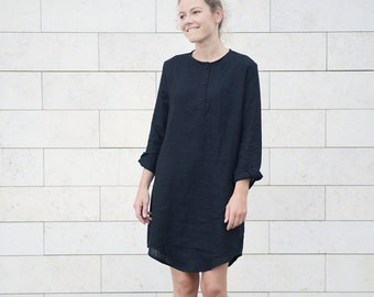 Long Linen Shirt/Tunica/Dress in different colours