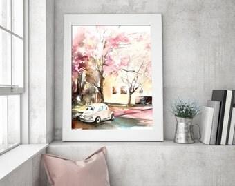 Stampa di parete pittura arte stampa albero e di canotstopprints - Oggettistica per la casa moderna ...