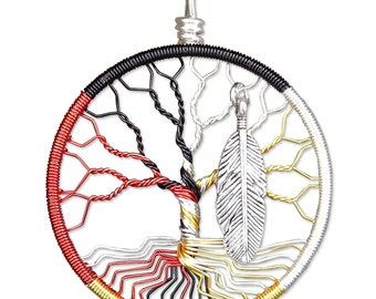 Medicine Wheel Tree of Life Pendant Wire Wrapped Jewelry
