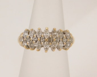 1.00 Carat T.W. Marquise Cut Diamond Band 10K