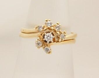 0.33 Carat T.W. Ladies Round Cut Diamond Wedding Set 14K