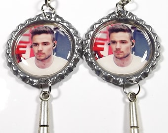 Liam Payne Earrings - 1 Pair - With Microphone Charms