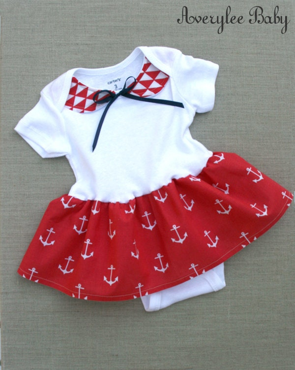 Anchors Baby Girl Bodysuit Baby Girls Clothes Nautical Baby