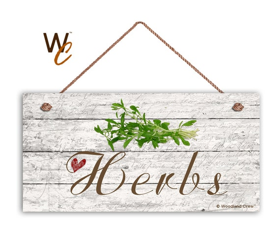 on sale herbs sign garden sign rustic decor herb on distressed wood