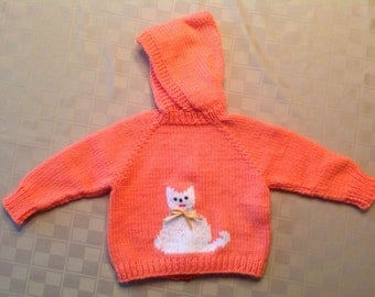 Baby Sweater - Kitty - 6-18 months