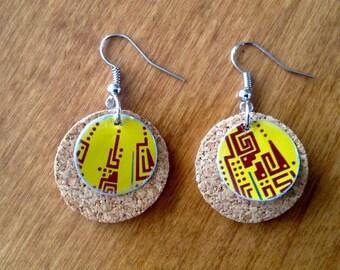 Reclaimed Aluminum Can Earrings/Yerba Mate Earrings/Upcycled Repurposed Recycled Earrings
