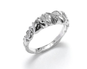 Sterling Silver Stacking Rings: Zig Zag Ring II