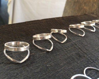 Triangle Geo Sustainable Sterling Silver Ring - Handmade in Canada, eco-friendly, Free repairs for life!