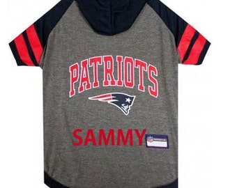 Patriots Hoody Dog Tee Personalized