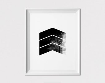 Geometric print, Poster, Scandinavian print, minimal art prints, Minimalis wall decor, black & white, Gift, Home Decor, ArtFilesVicky