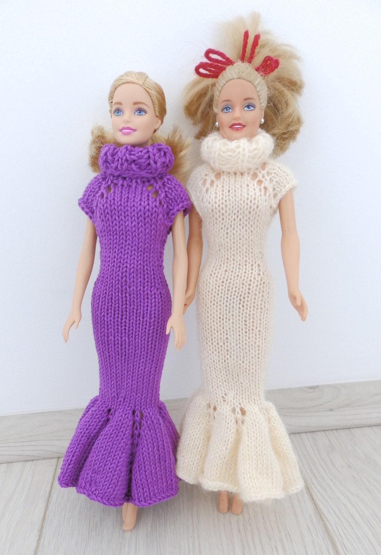 Knitting Pattern PDF Barbie Elegant Dress