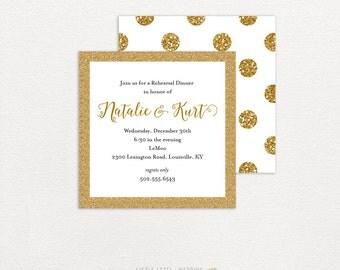 Rehearsal Dinner Invitation - Couples Shower Invitations - Bridal Shower Invitations -  Wedding Shower - Fleur De Lis - printed or digital