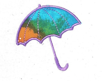 Spring Umbrella - Machine Embroidery Applique 4 x 4 Hoop - Instant Download
