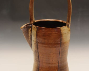 Handmade Stoneware Water Ewer with Arched Handle