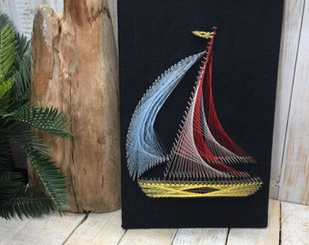 String art stringart string and nail art nail art string vintage string art nail and string art boat string art decor string and prinsesfo Image collections