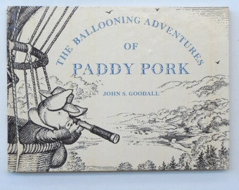 The Ballooning Adventures of Paddy Pork by John S. Goodall Wordless Book Collectible