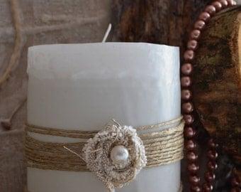 handmade vintage candle