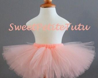 Peach blush tutu, Peach pink tutu, preemie, Newborn to 14/16 teen, light pink peach tutu, Baby Tutu, Birthday Tutu, Newborn tutu, Photo Prop