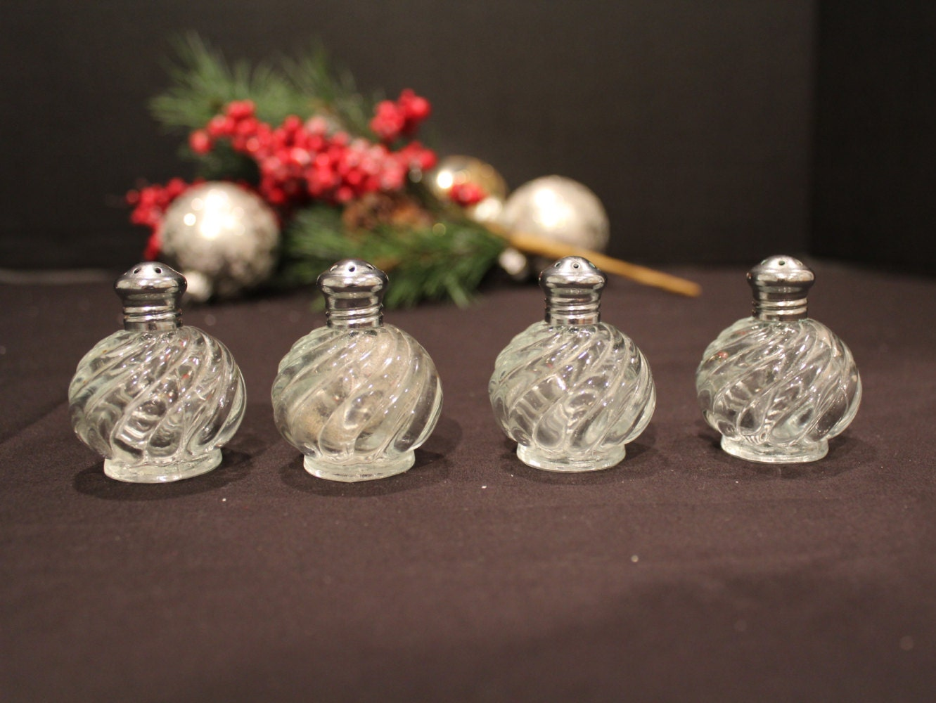 Set of 4 Vintage Irice NY Decorative Salt and Pepper Shakers
