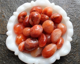 Carnelian -Tumbled Stone - Large